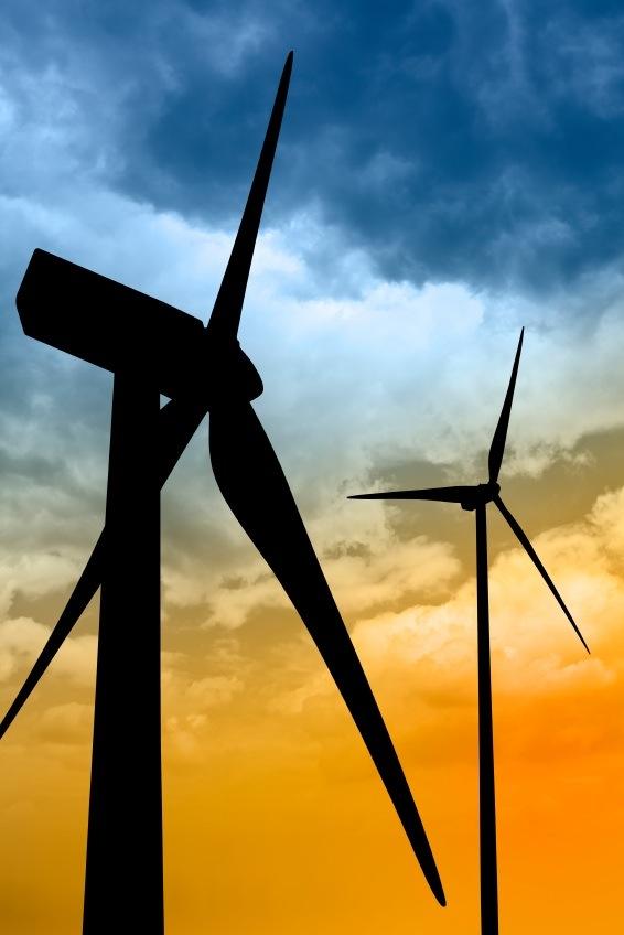 Im Einsatz: Windturbinen.