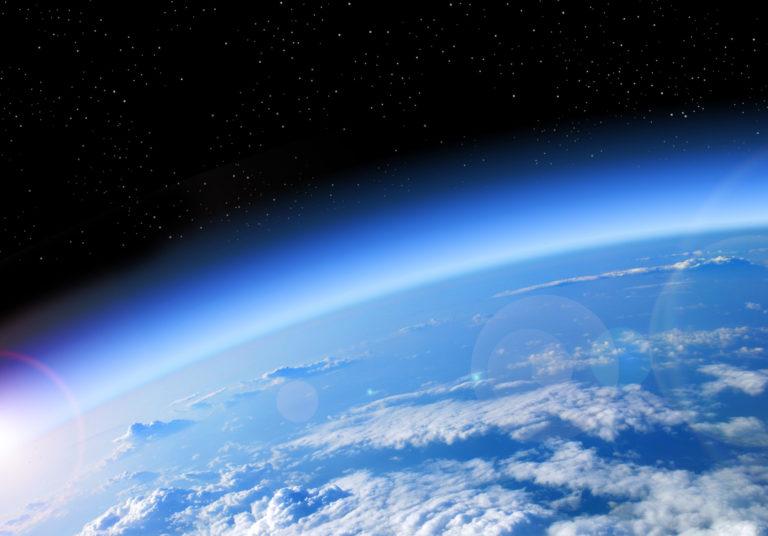 Die Erde vom Weltall aus.