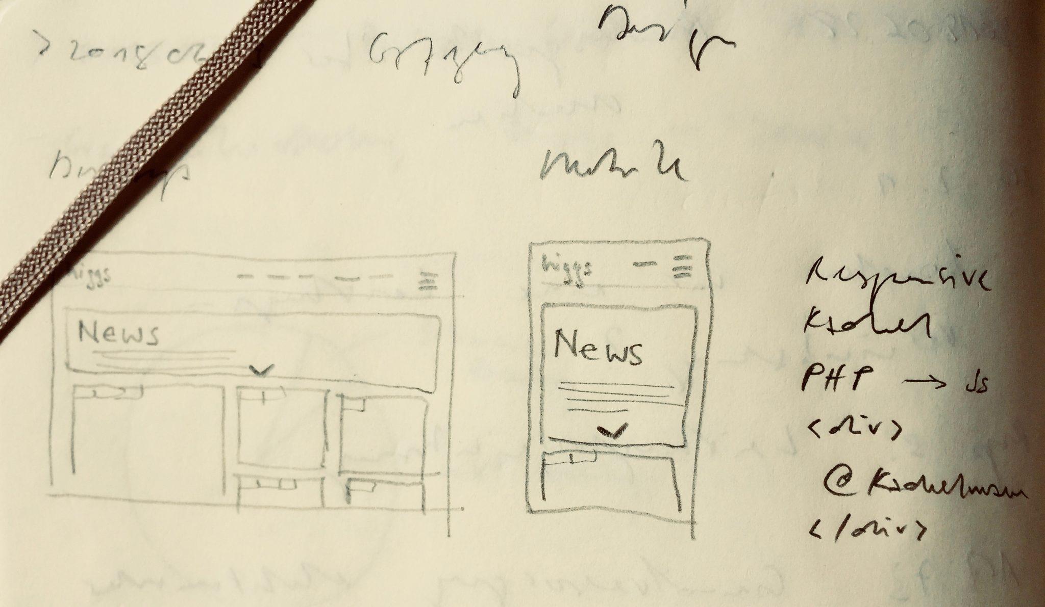 Gut geplant ist halb programmiert. Die Kachel als Gestaltungselement zieht sich durch alle Bereiche der higgs-Webseite.