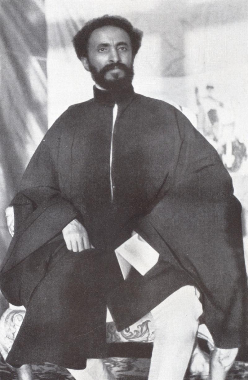 Kaiser Haile Selassie, fotografiert von Walter Mittelholzer in Abessinien (1934).