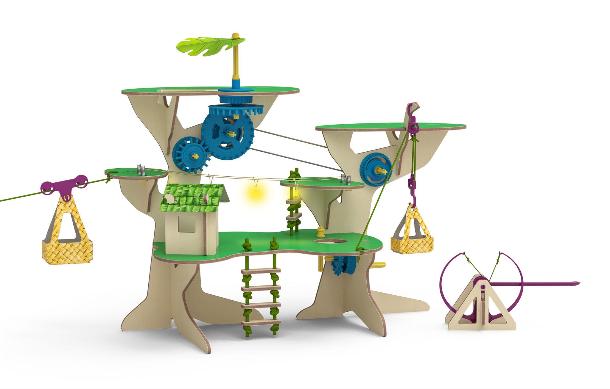 Ein Baumhaus als grosse Spiel- und Experimentierstation: So sieht die Welt von Pepper Mint aus.