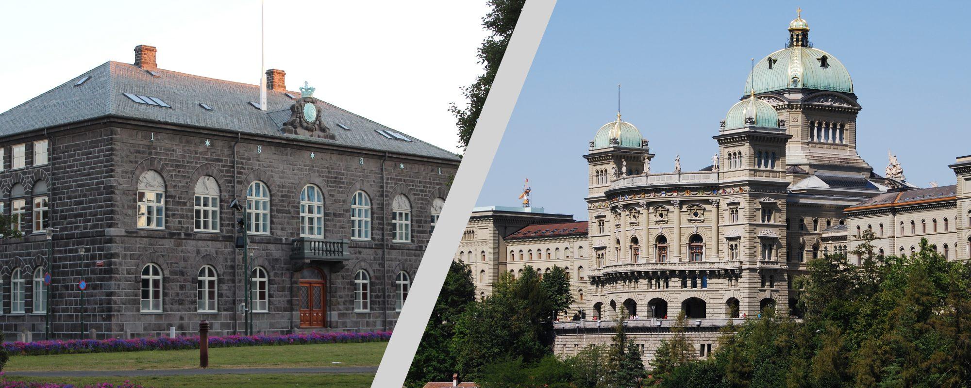 Hier tagen die ärmsten Parlamentarier: im Parlamentsgebäude in Reykjavik, Island – und im Bundeshaus.