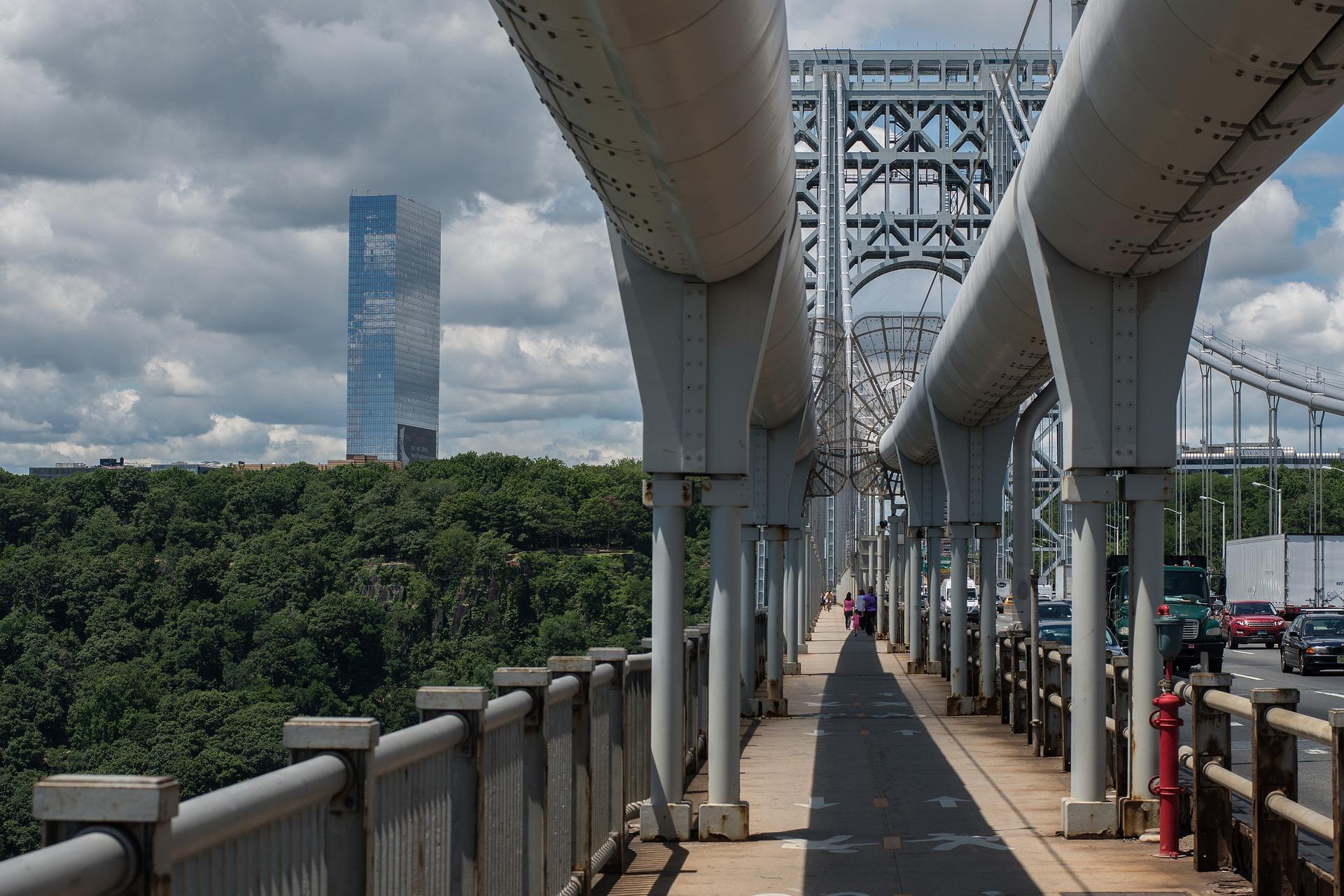 Bei ihrer Eröffnung im Jahre 1931 hatte die George Washington Bridge die grösste Spannweite der Welt.