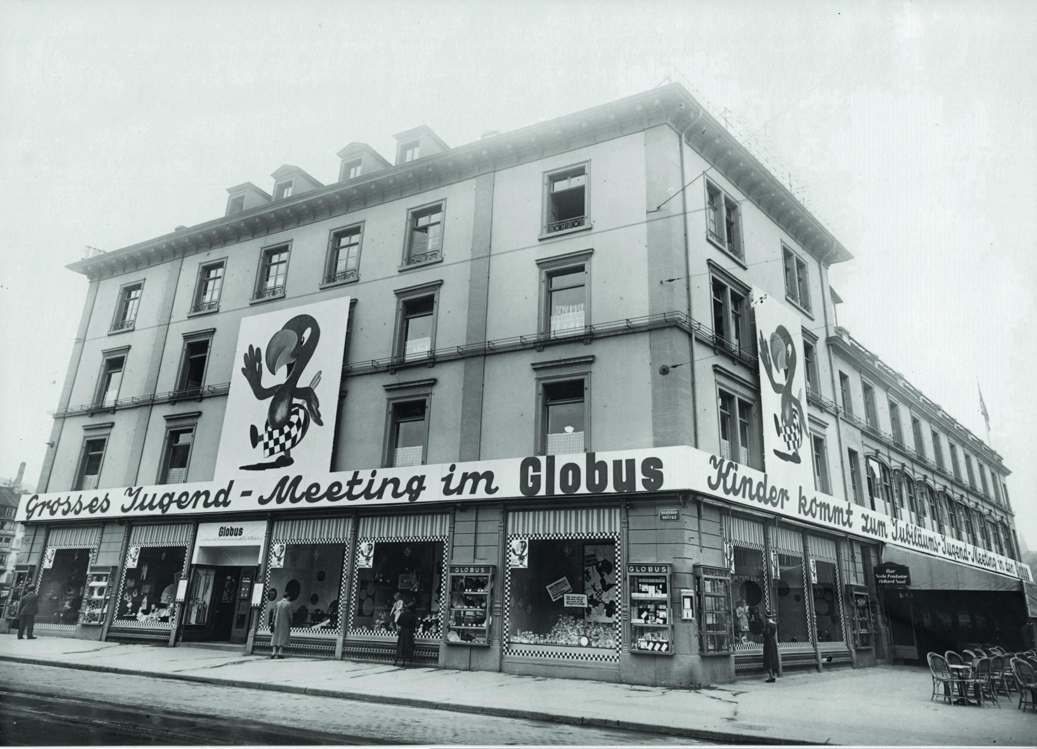 Geburt der Legende: Erstes Plakat des 19-jährigen Robert Lips für das erste Jugend-Meeting im Globus (1932). Als der Rummel überhand nahm, mussten die Treffen gestoppt werden.