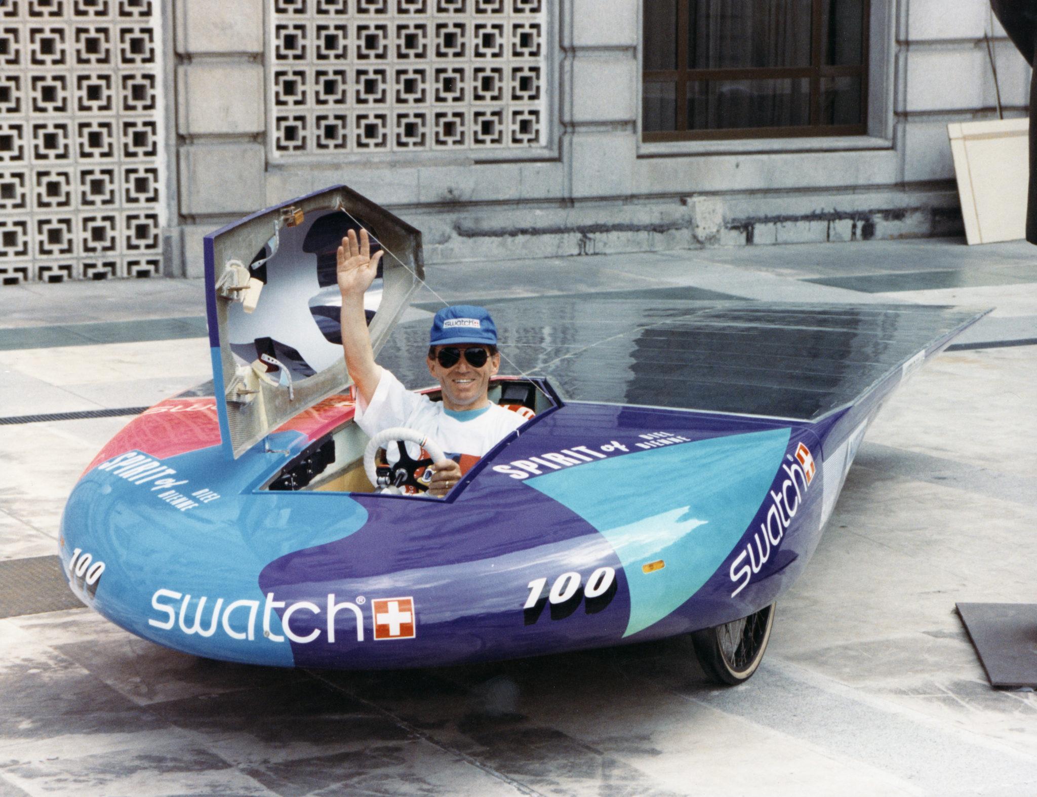 Mit der «Spirit of Biel II» hat Pilot Paul Balmer zusammen mit dem Bieler Ingenieurteam 1990 die «World Solar Challenge» gewonnen.