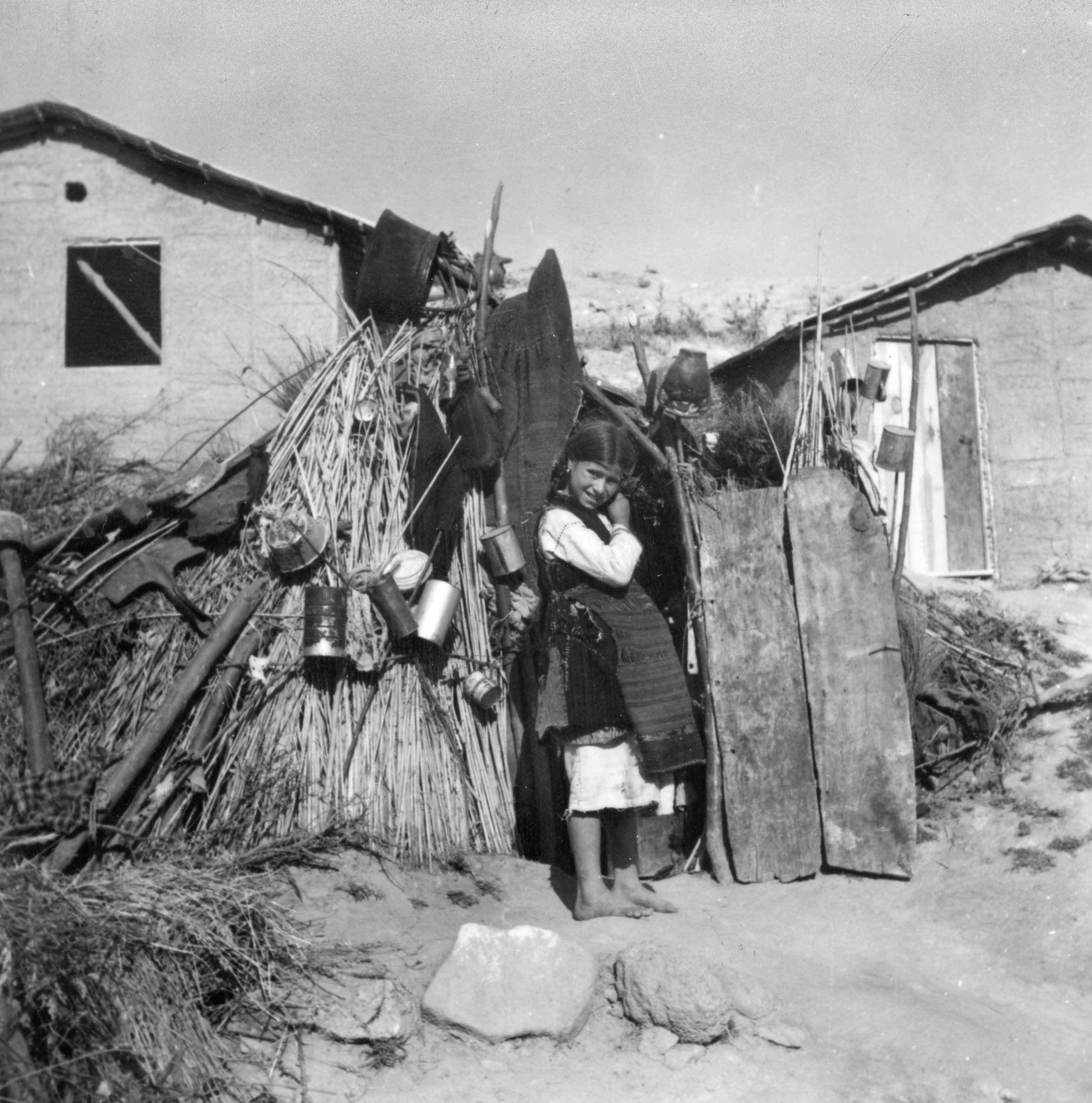 Tausende hausten so in Flüchtlingslagern. Hier in Griechenland (1948).