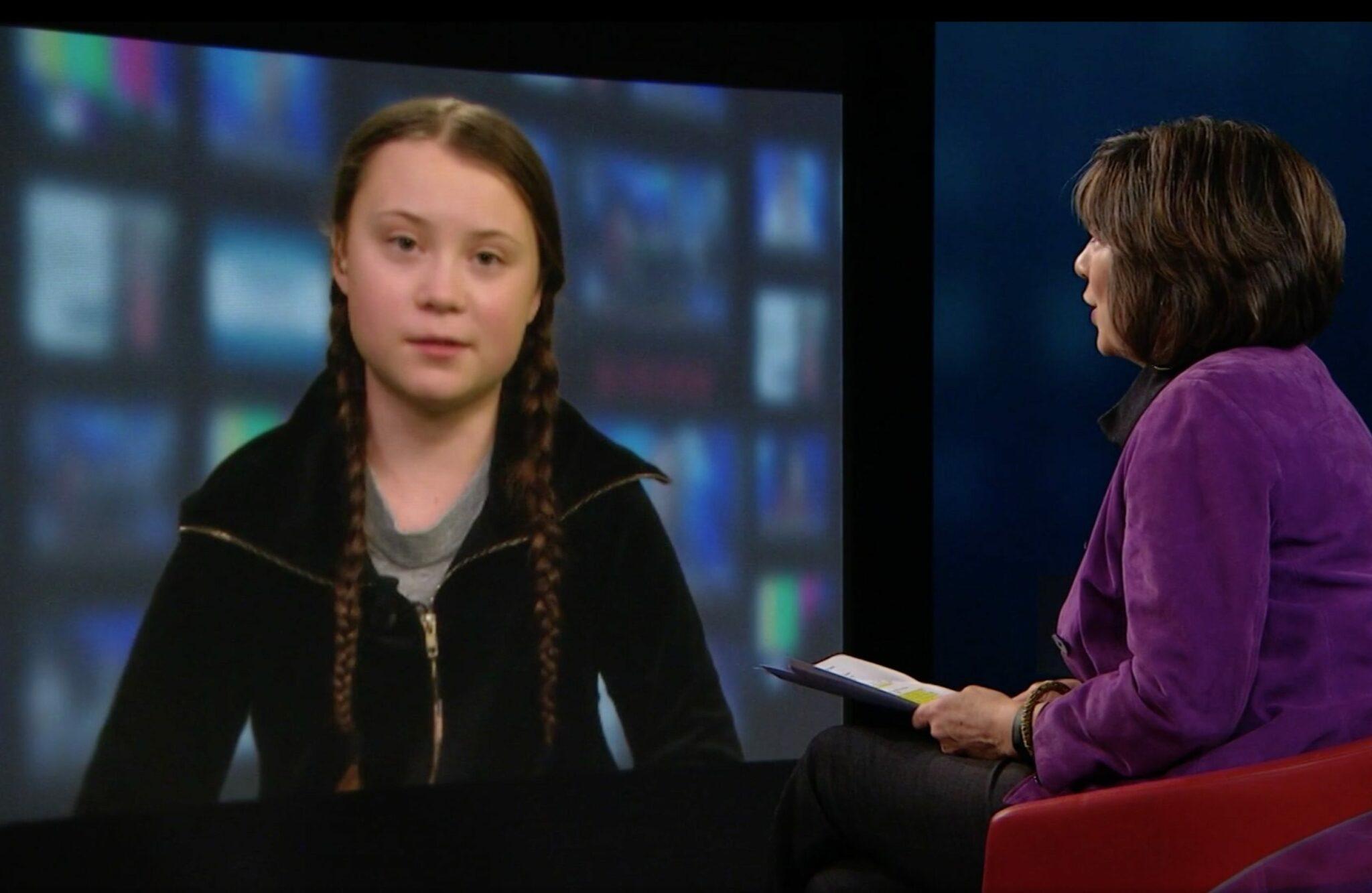 Greta Thunberg spricht im Interview mit Christiane Amanpour über ihre Diagnose Asperger-Syndrom.