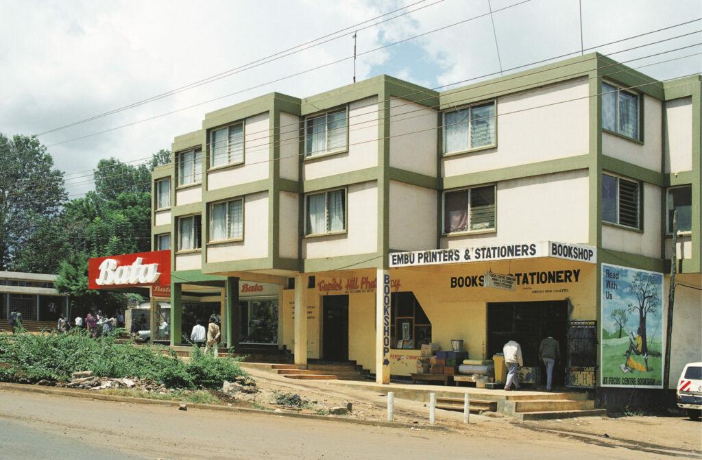 Ein Bata-Schuhgeschäft in der kenianischen Stadt Embu. In Afrika nimmt man Bata heute als nationale Marke wahr.