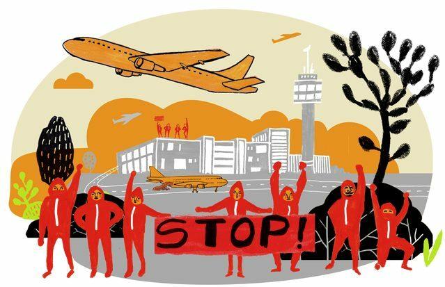 Protest: Der hoch subventionierte Flugverkehr nimmt auf die Natur keine Rücksicht.