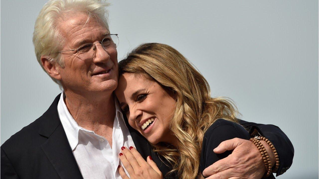 Richard Gere mit seiner Frau
