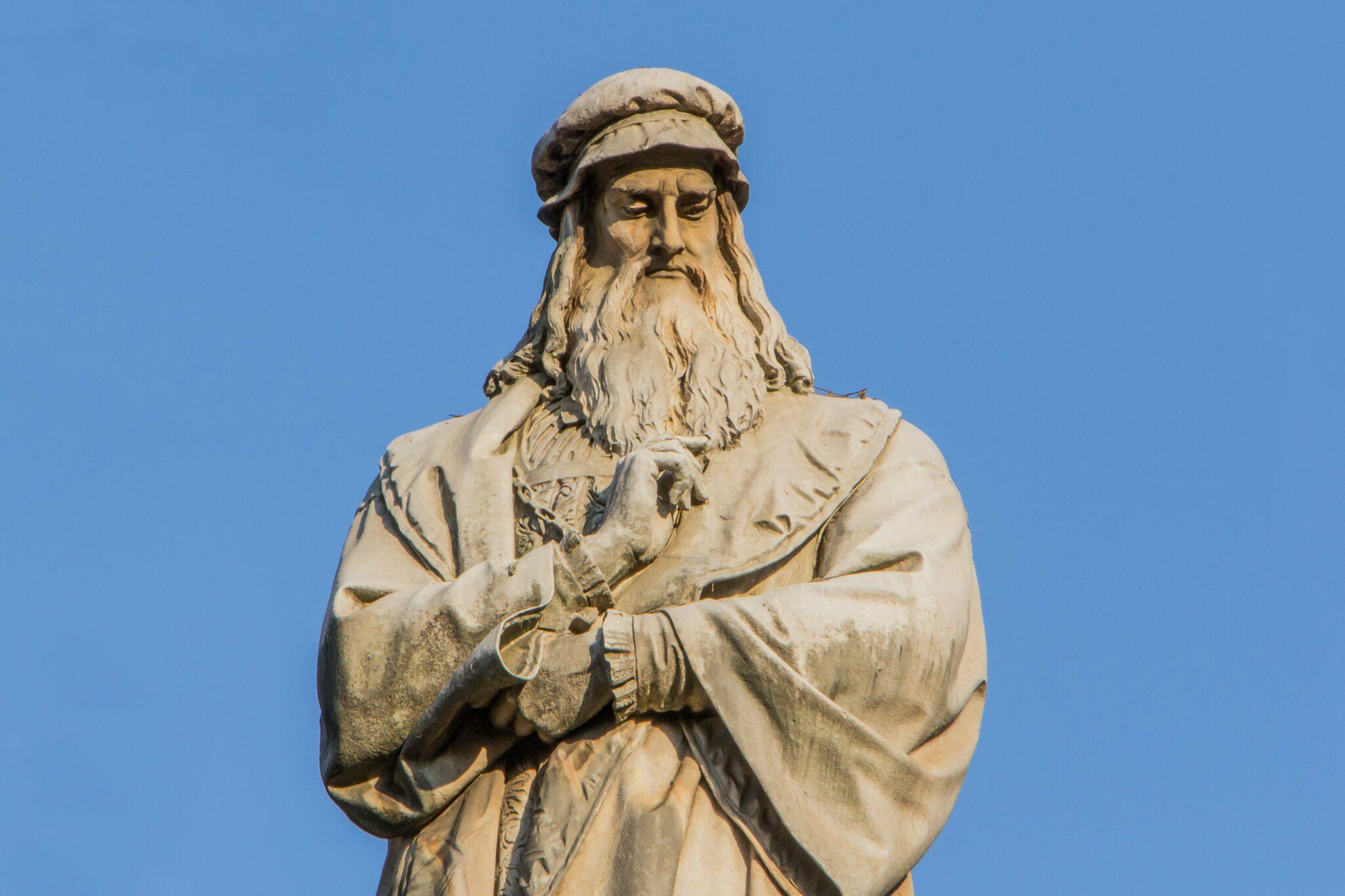 Statue von Leonardo da Vinci