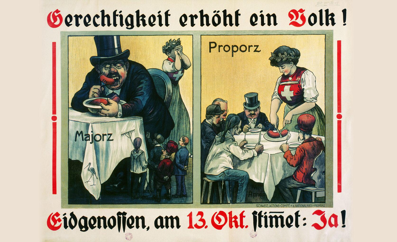 """Plakat mit der Aufschrift """"Gerechtigkeit erhöht ein Volk"""""""