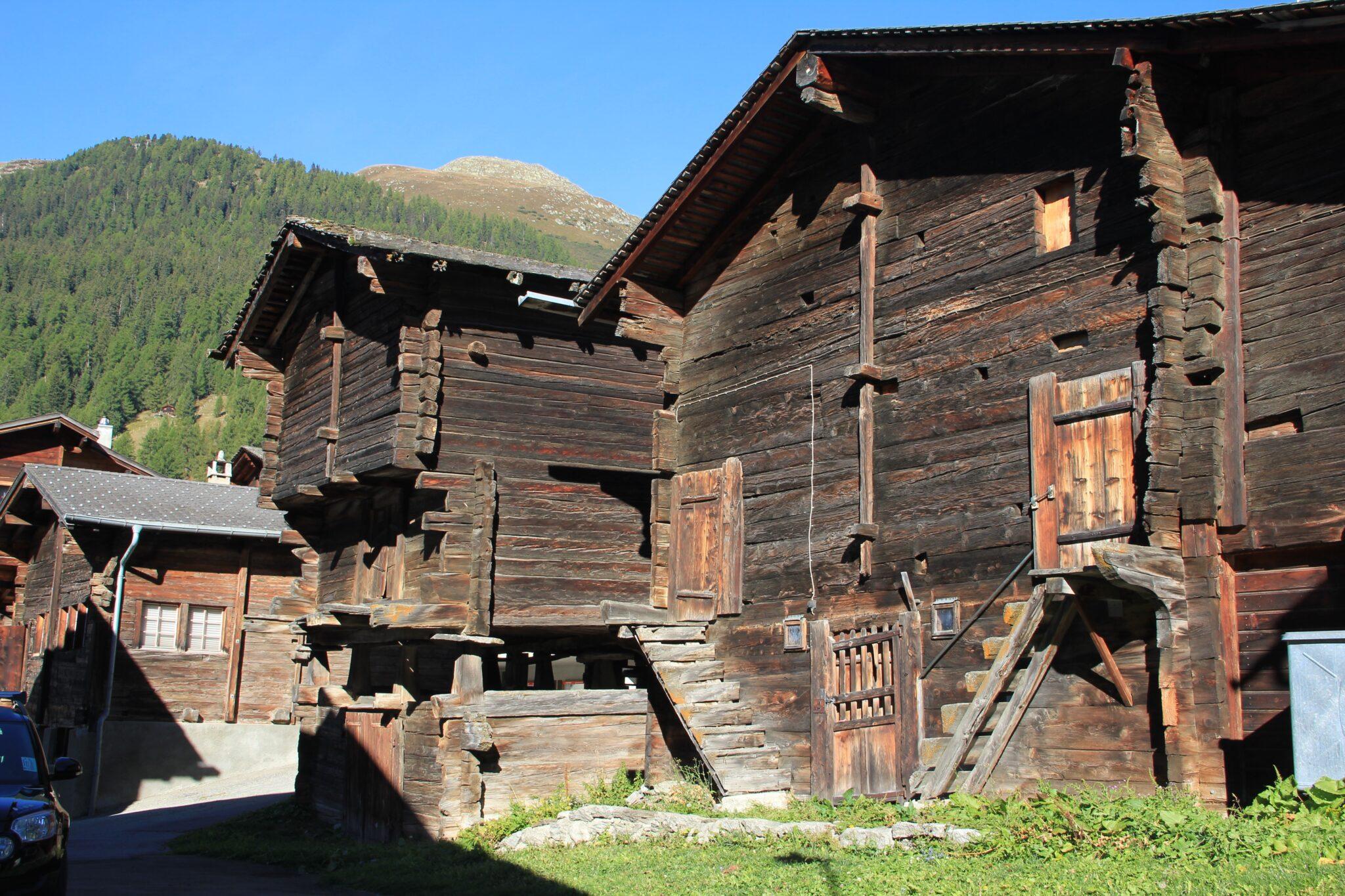 Alte Holzgebäude.