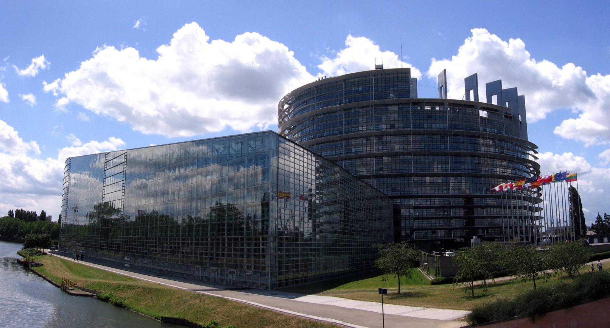 Der Sitz des Europäischen Parlaments in Strassburg.