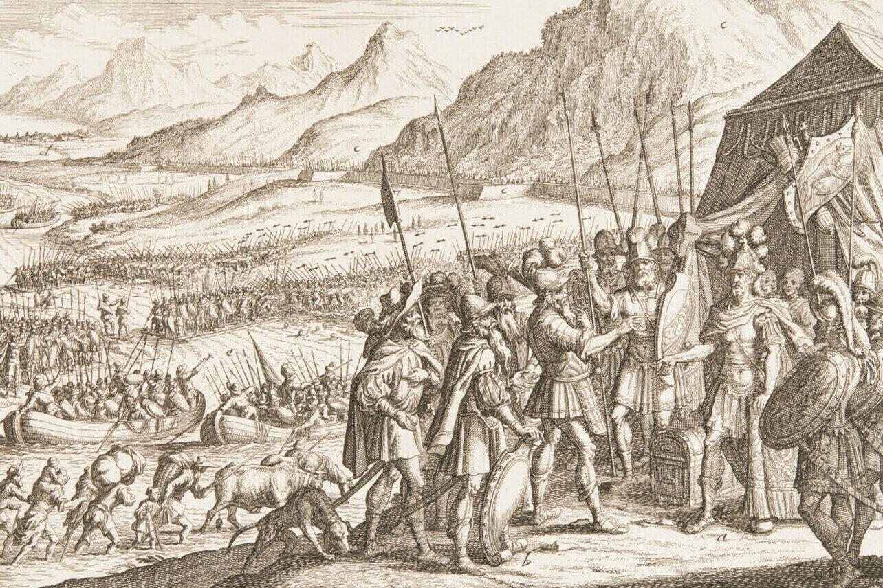 Versuchter Durchbruch der Helvetier in Gallien.
