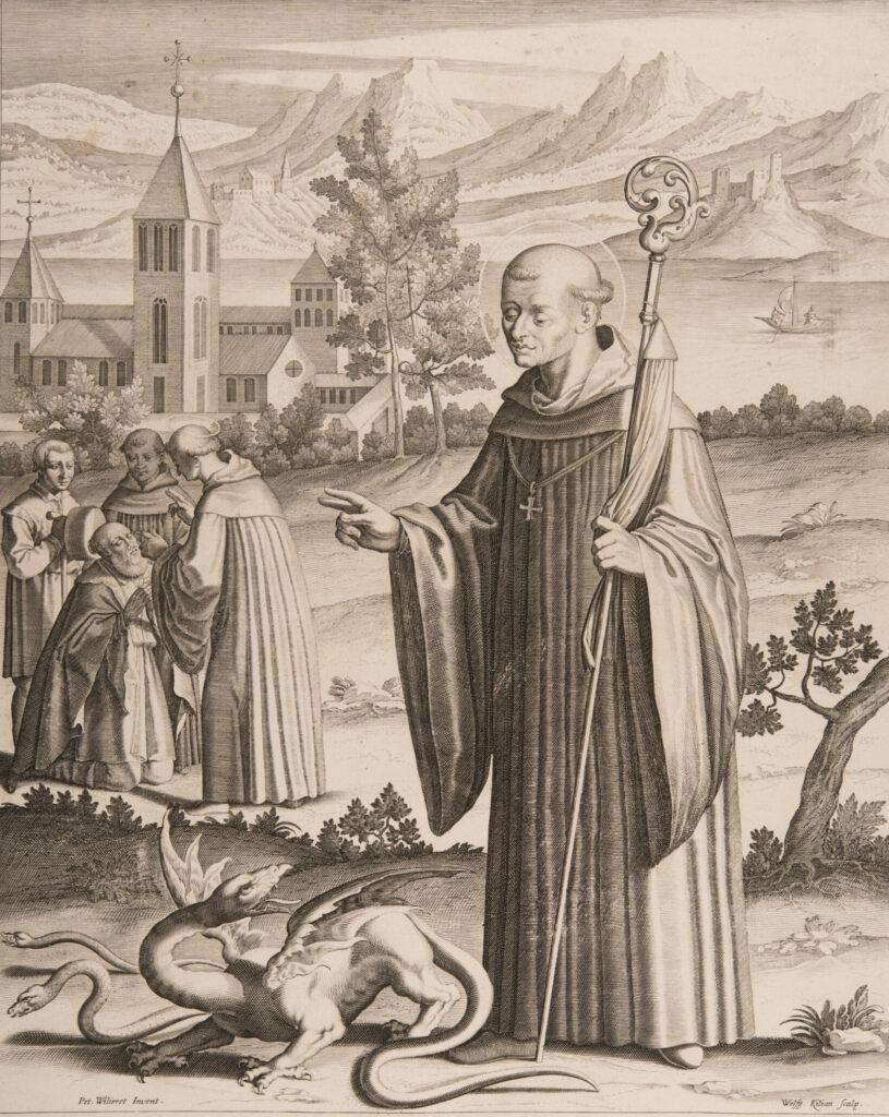 Gallus mit einem Drachen