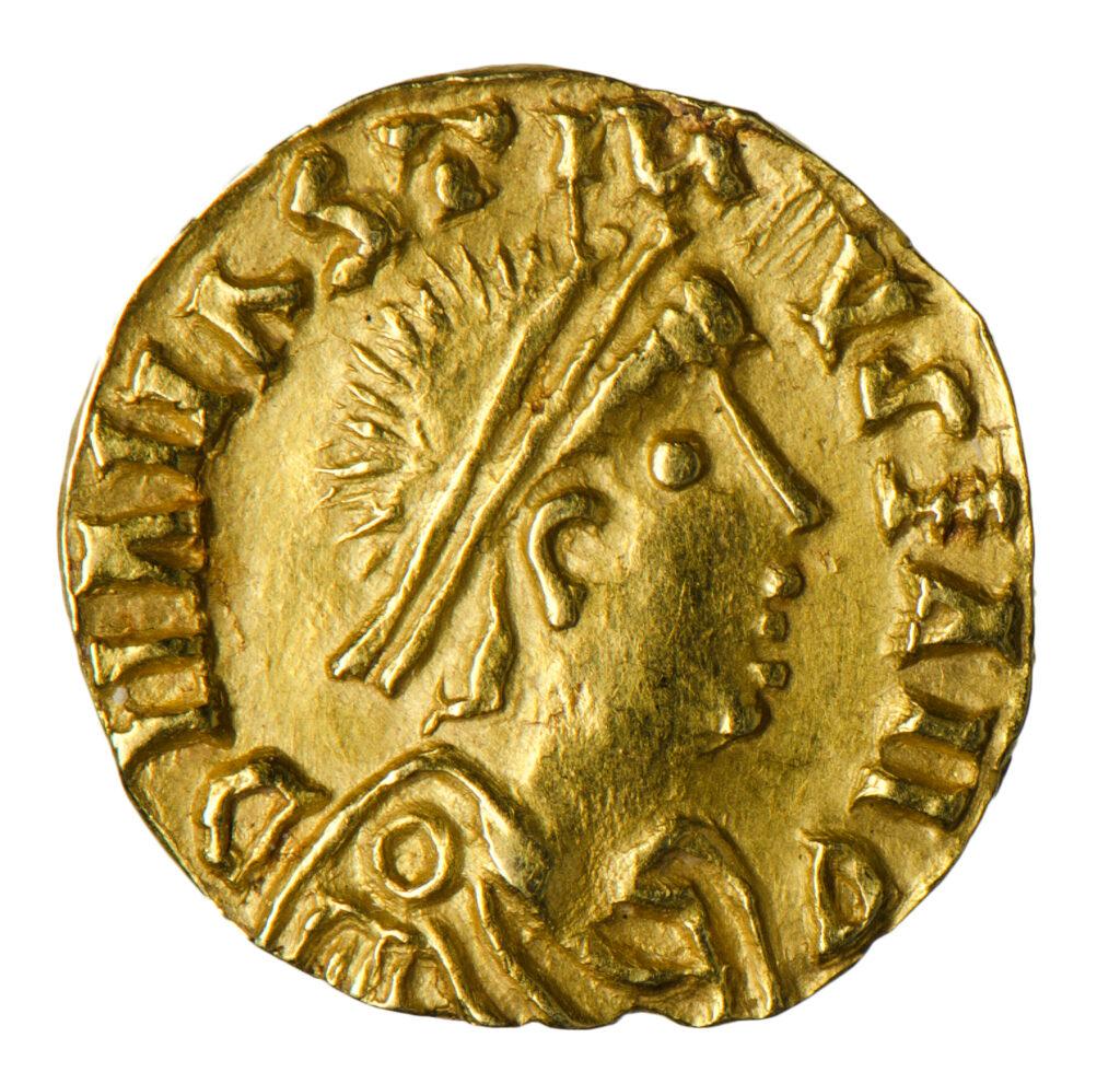 Münze mit Sigismunds Kopf