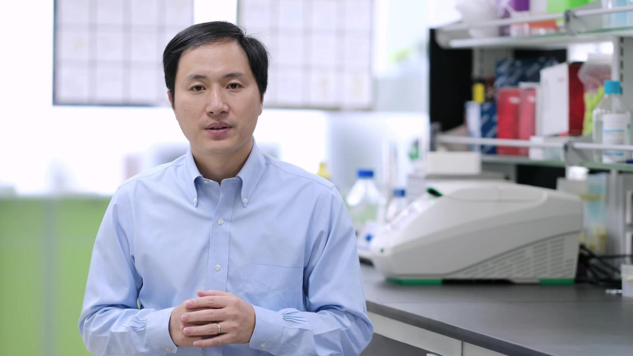He Jiankui in seinem Labor