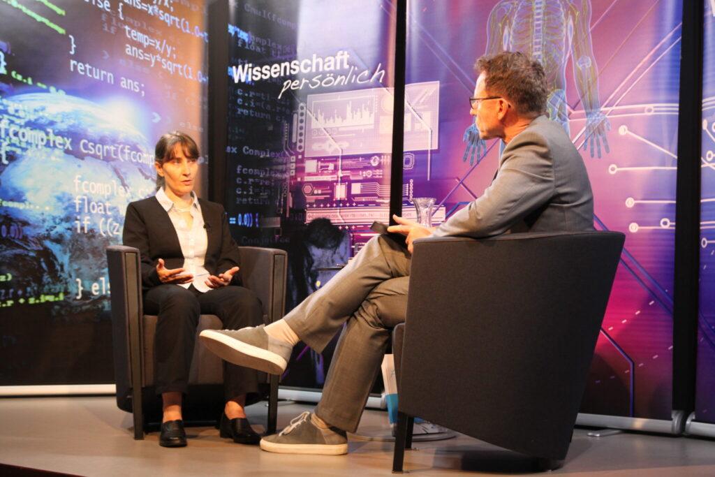 Claudia Christen und Beat Glogger im Gespräch