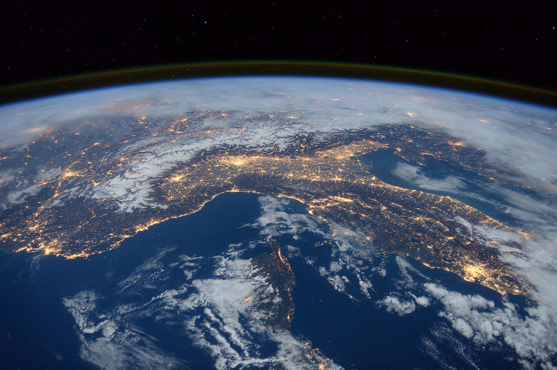 Die Erde aus dem Weltall gesehen