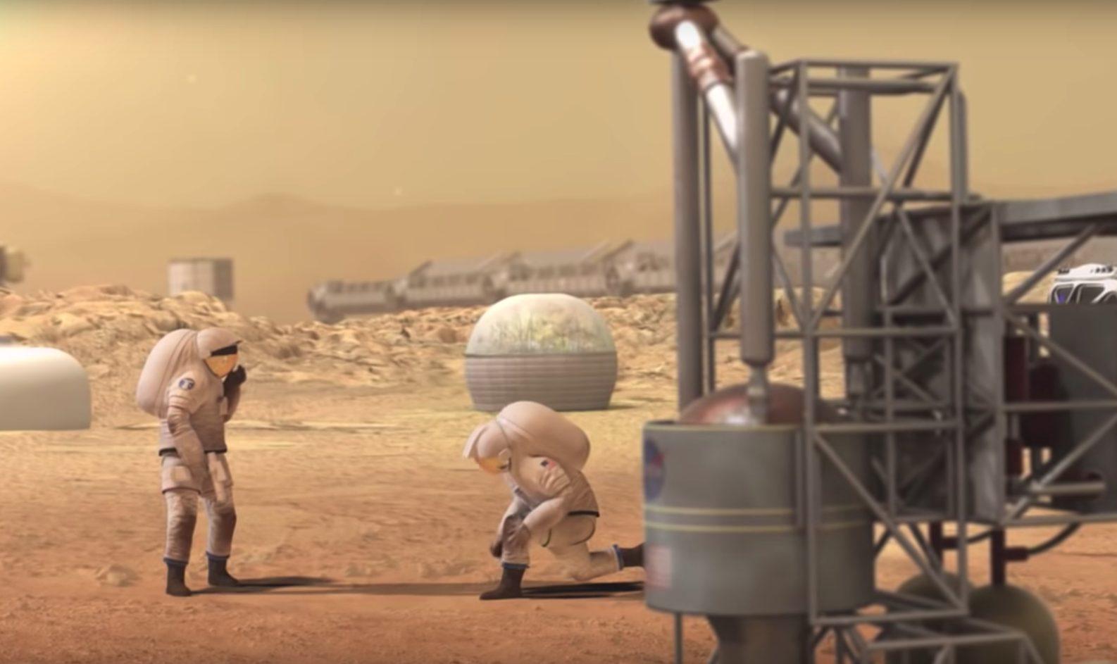 Entwurf: Astronauten auf dem Mars