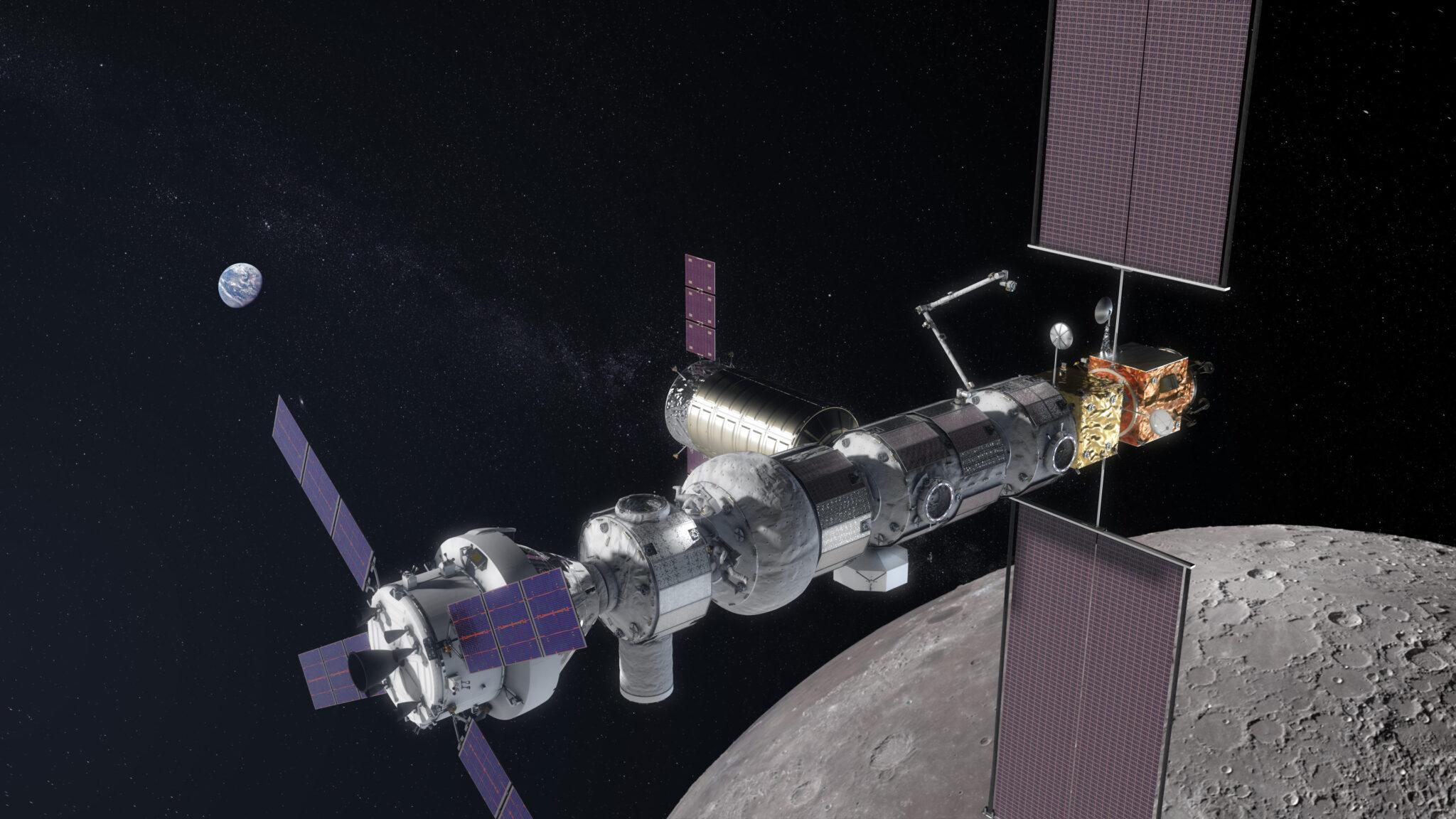 Das Lunar Orbital Platform-Gateway: Von hier sollen Expeditionen zu anderen Planeten starten.