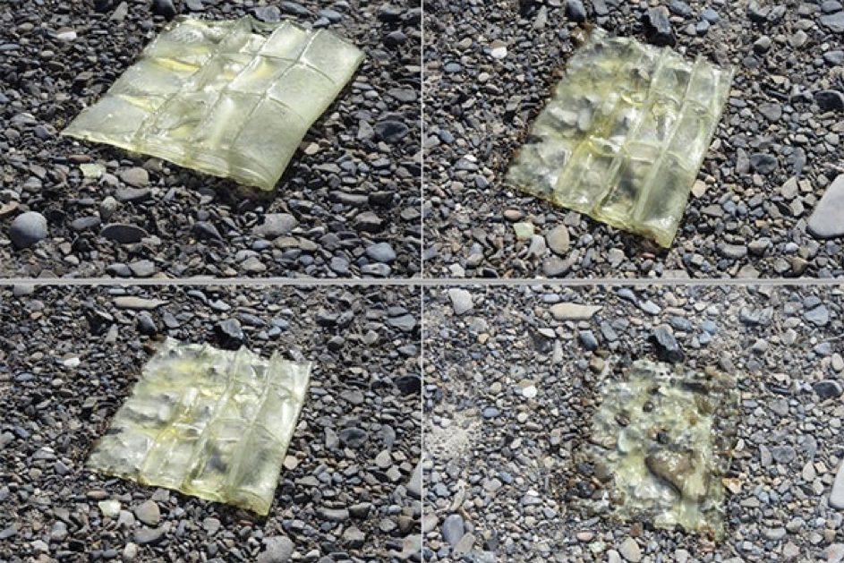 Zersetztes Plastik