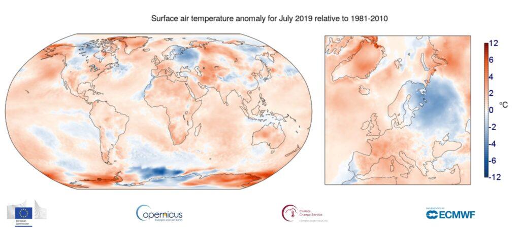 So viel war der Juli 2019 heisser als die durchschnittlichen Julis zwischen 1981 und 2010.