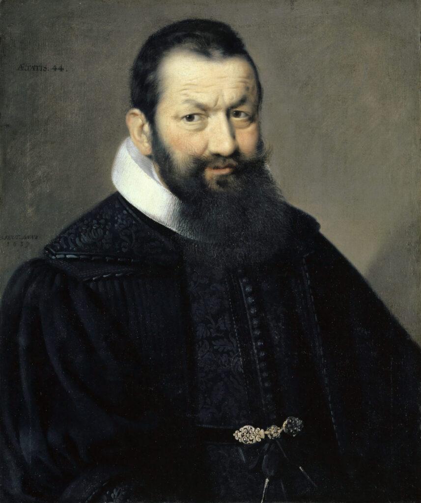 Ölbildnis des Basler Bürgermeisters Johann Rudolf Wettstein. Es wurde ca. 1636 von Samuel Hofmann gemalt.
