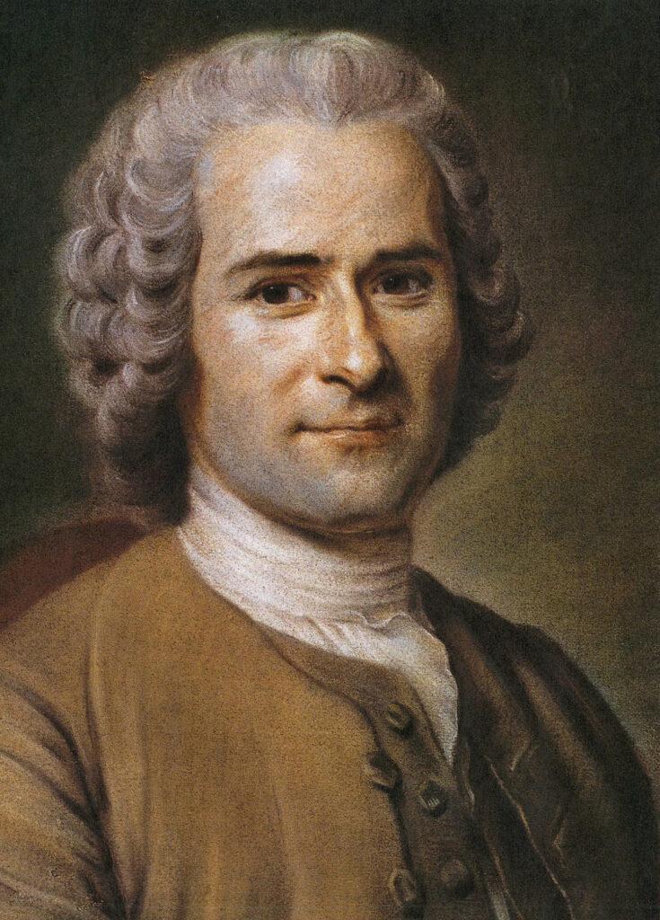 Porträt von Jean Jacques Rousseau.