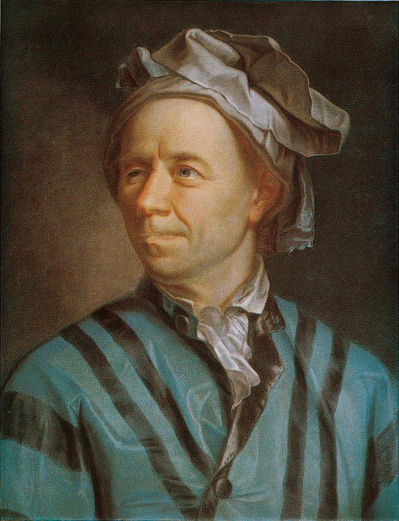 Portrait von Euler, gemalt von Emanuel Handmann, 1753.
