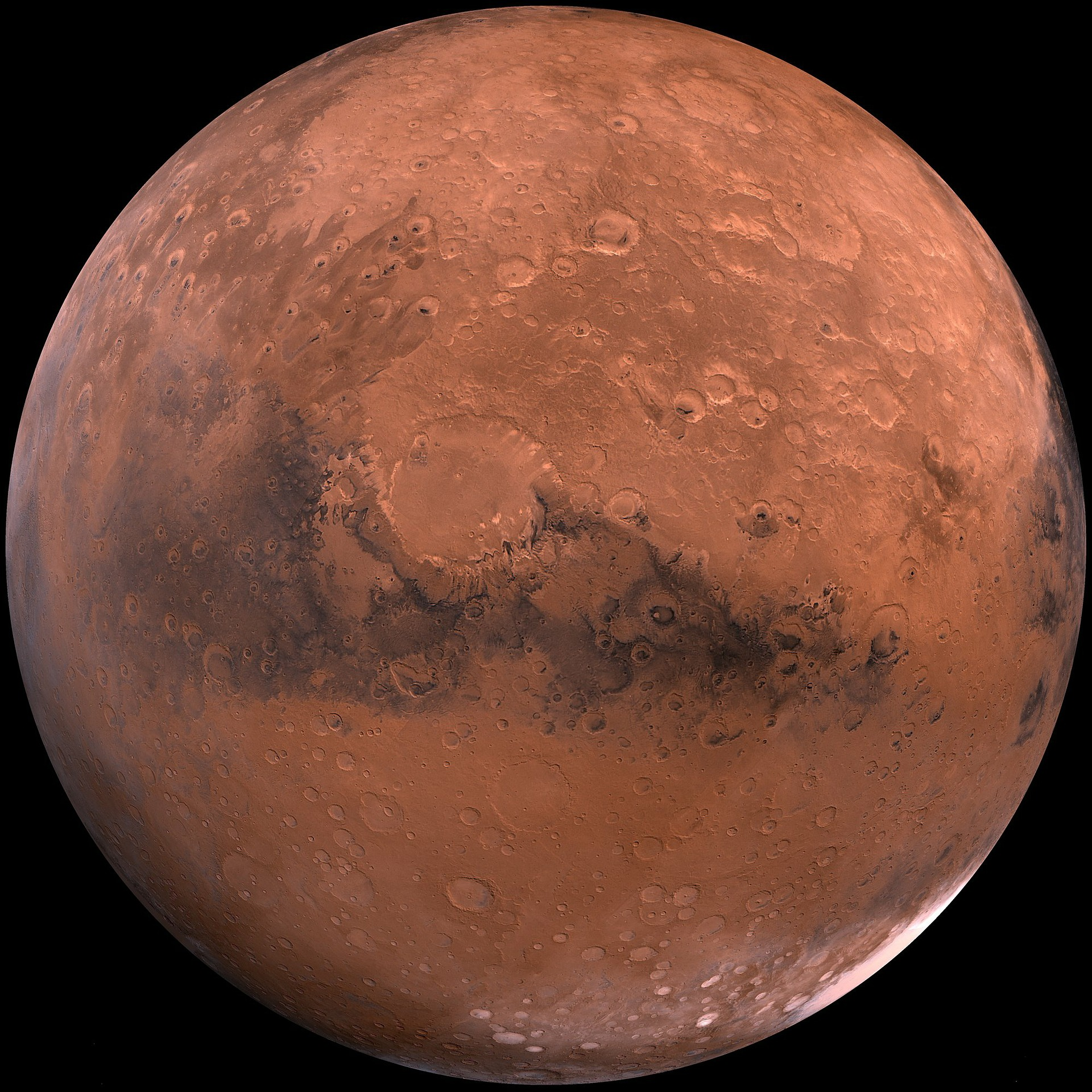 Ansicht des Mars