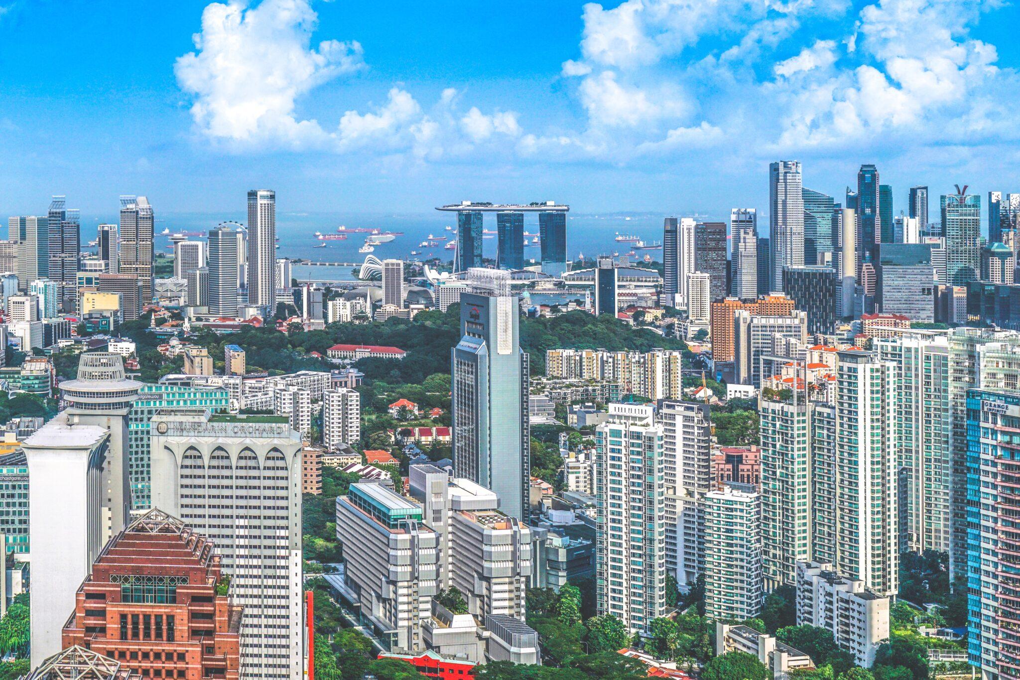 Ansicht von Singapur