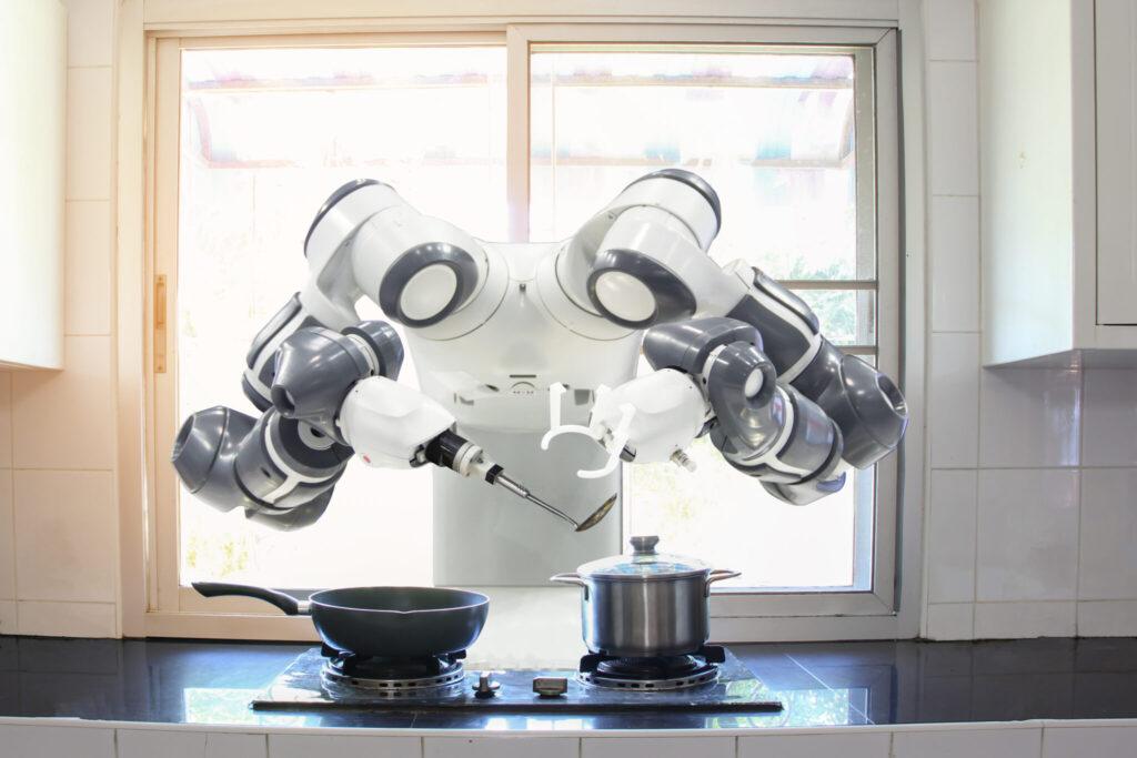 Roboter, der kocht