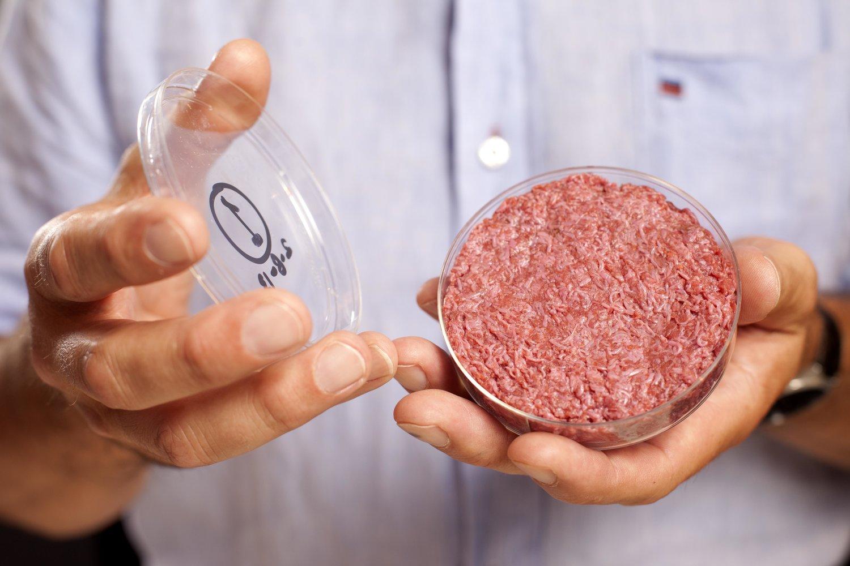 Der weltweit erste kultivierte Burger von Mark Post, den er bereits 2013 präsentiert hat.