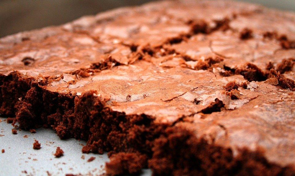 Angeschnittene Schokoladenbrownies