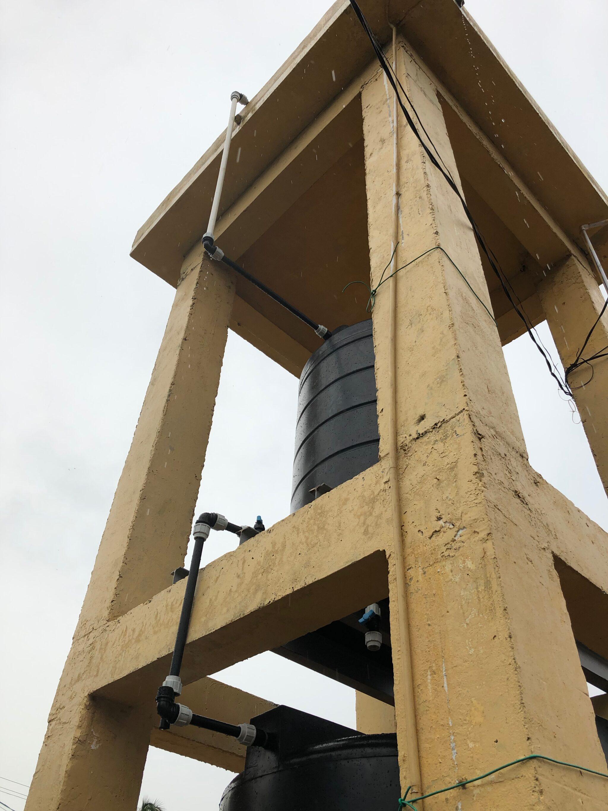 Wasserfilteranlage in Grundwasserspeicherturm