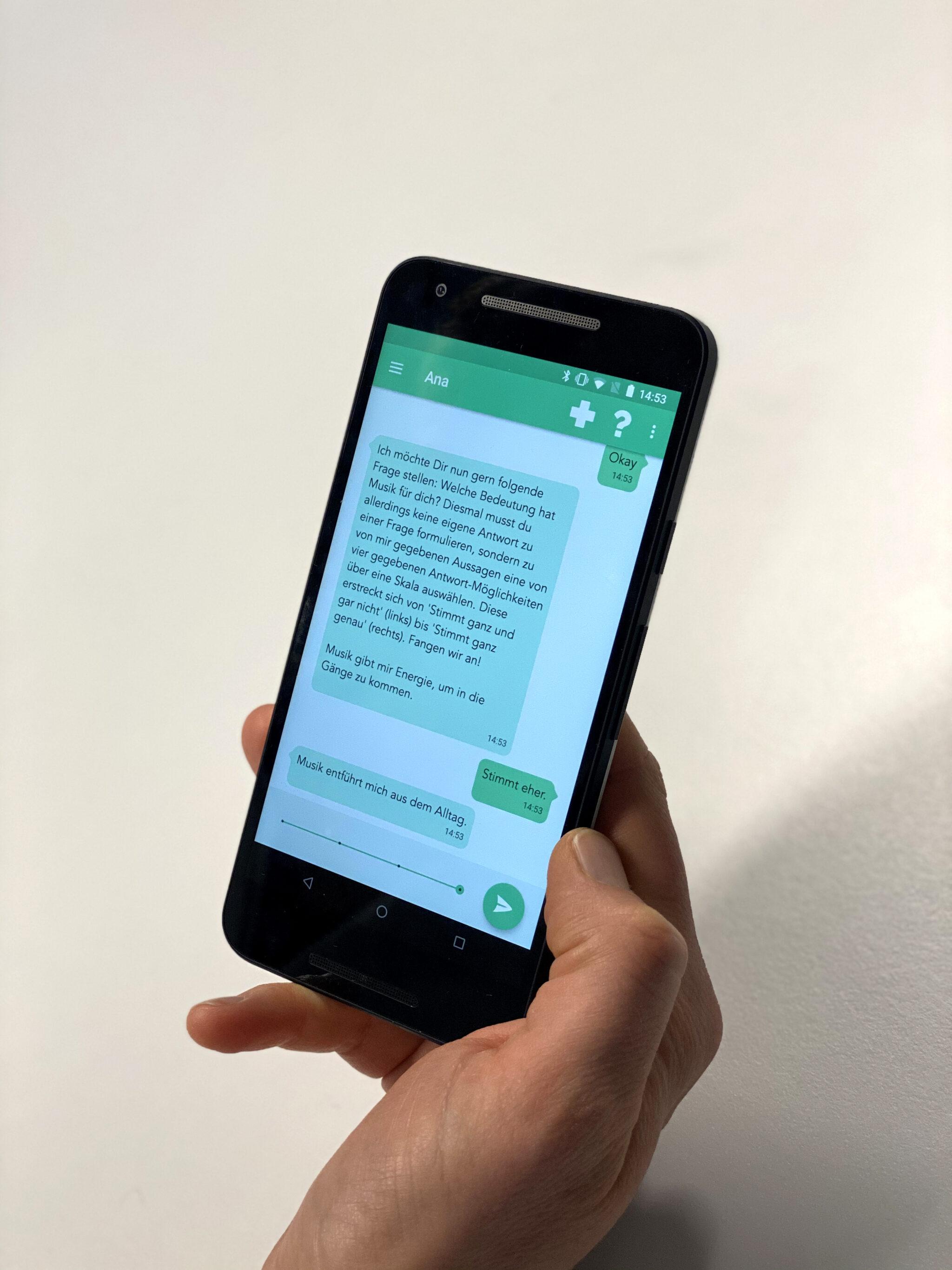 Chatbot App auf dem Smartphone