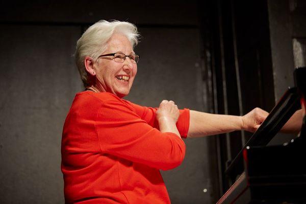 Irène Schweizer auf der Bühne