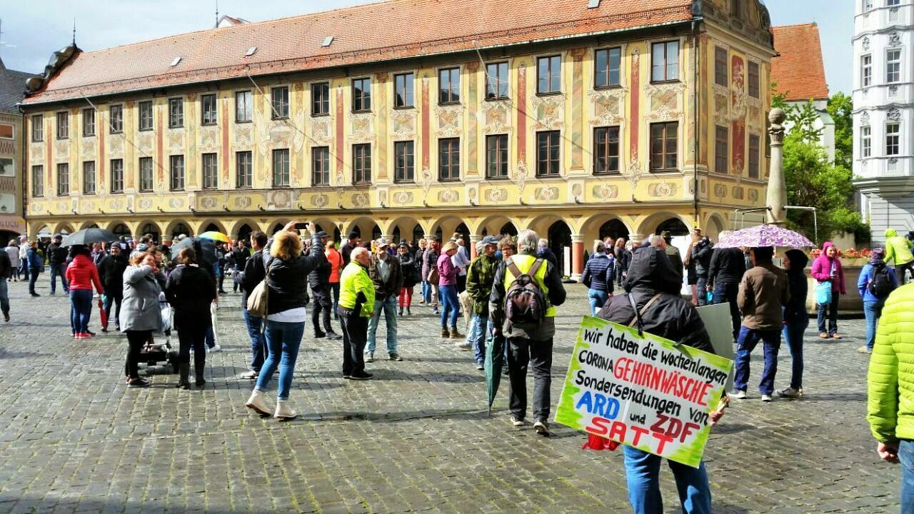 Demonstration gegen Corona
