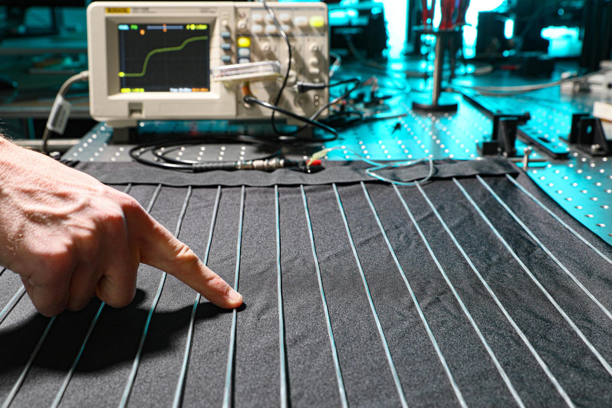 Eine Nahaufnahme dieses neuartigen Textils