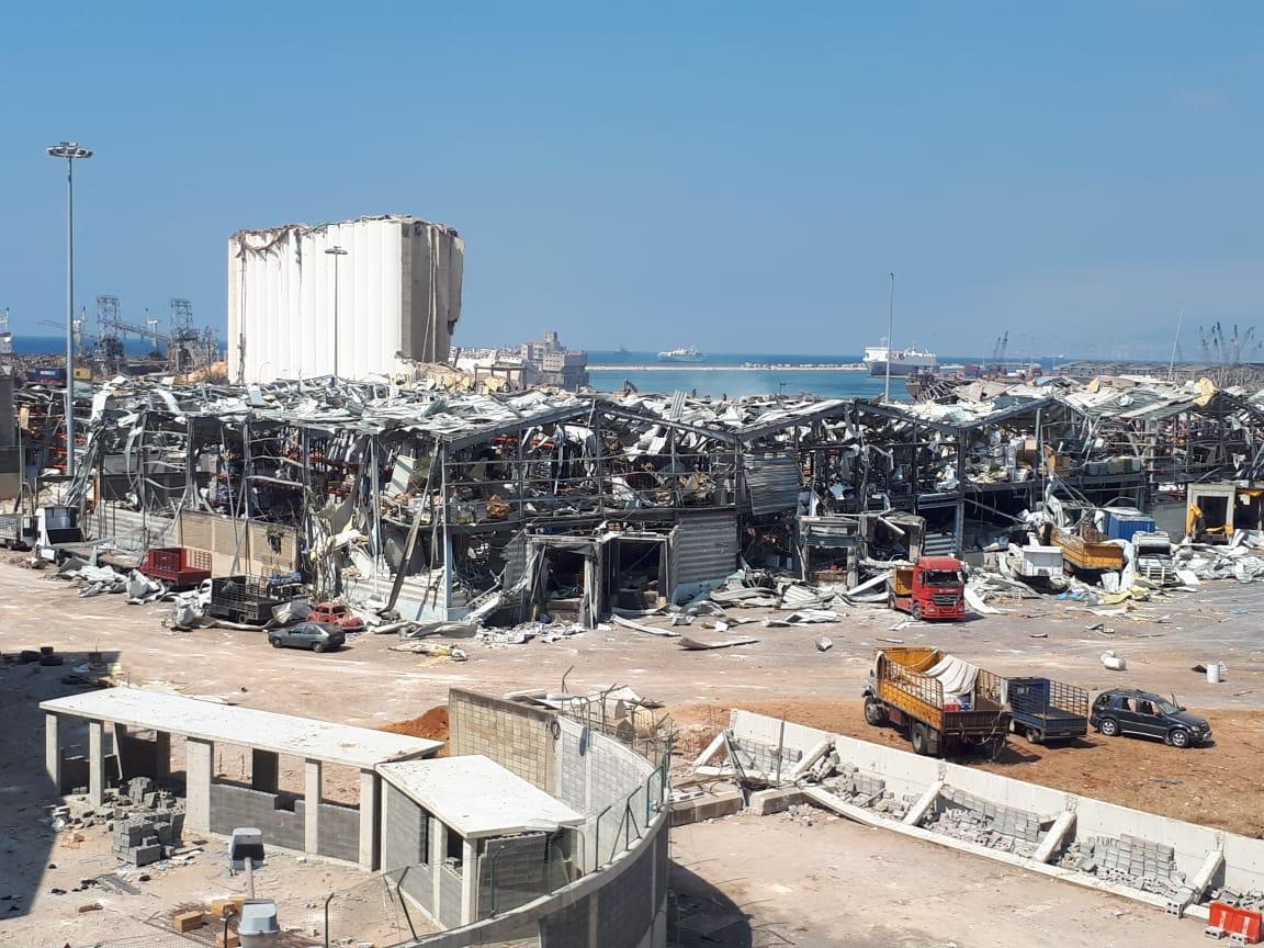 Die Folgen der Explosion im Hafengebiet von Beirut.