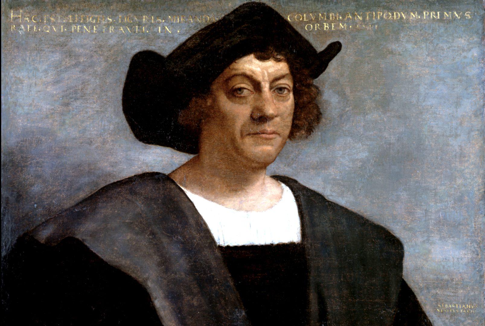 Altes Portrait von Kolumbus.