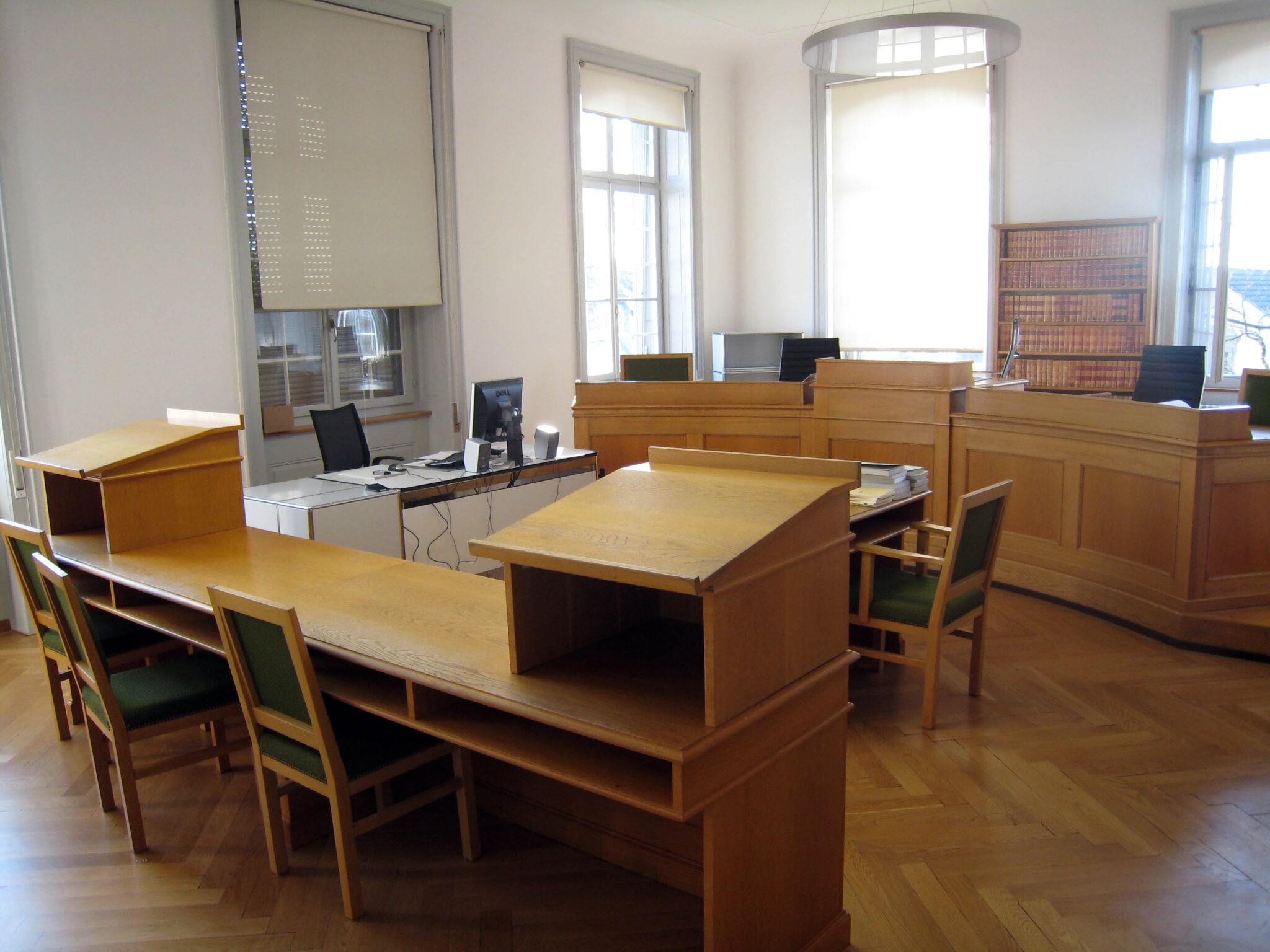 Ein kleiner Audienzsaal am Obergericht im Kanton Bern.