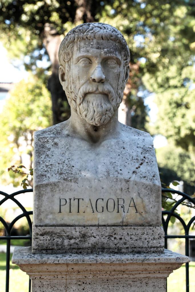 Büste von Pythagoras.
