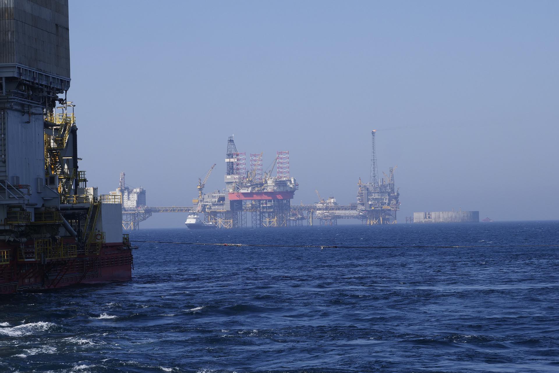 Ölbohrplattform in der Nordsee