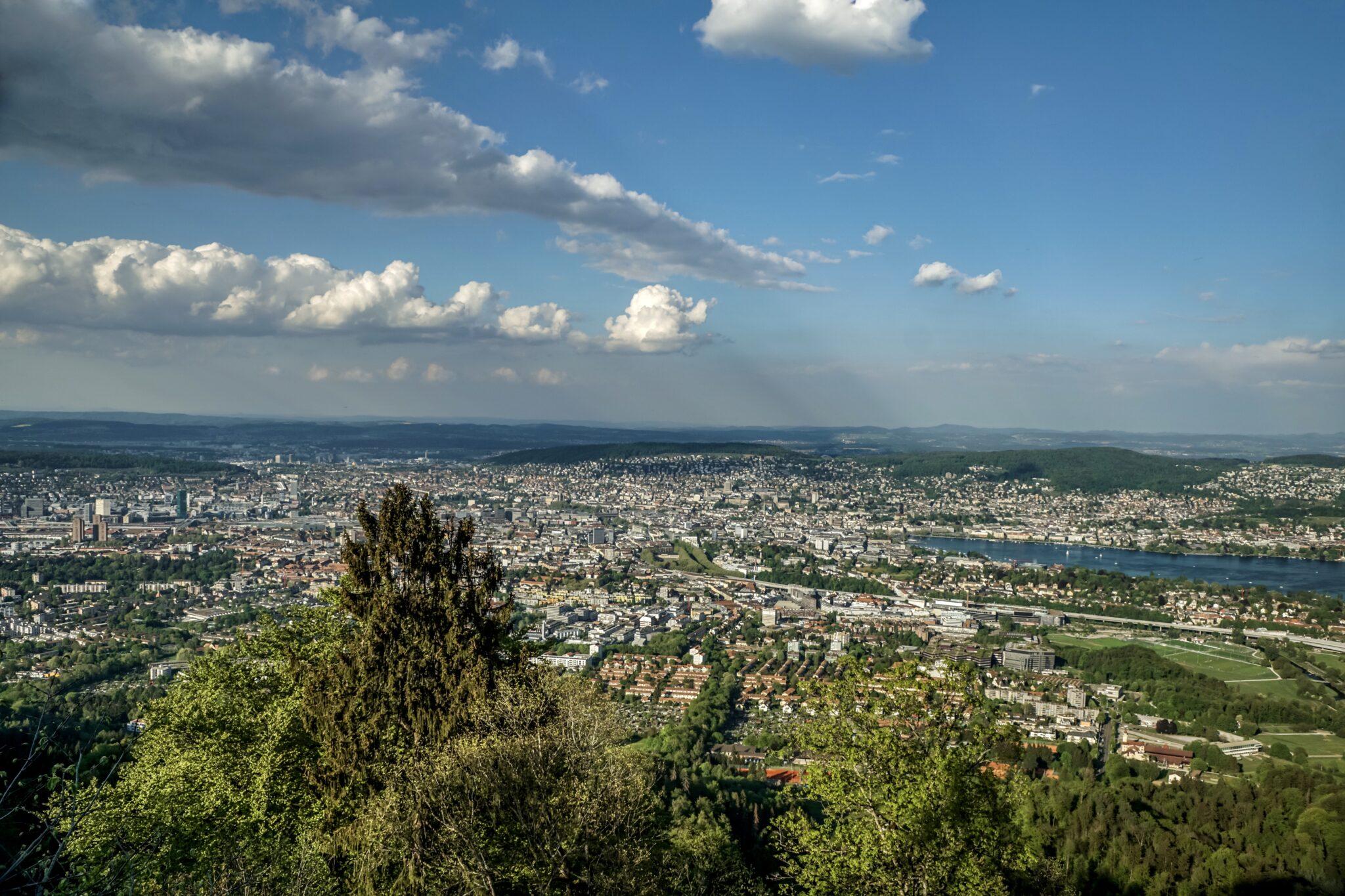 Panorama der Stadt Zürich