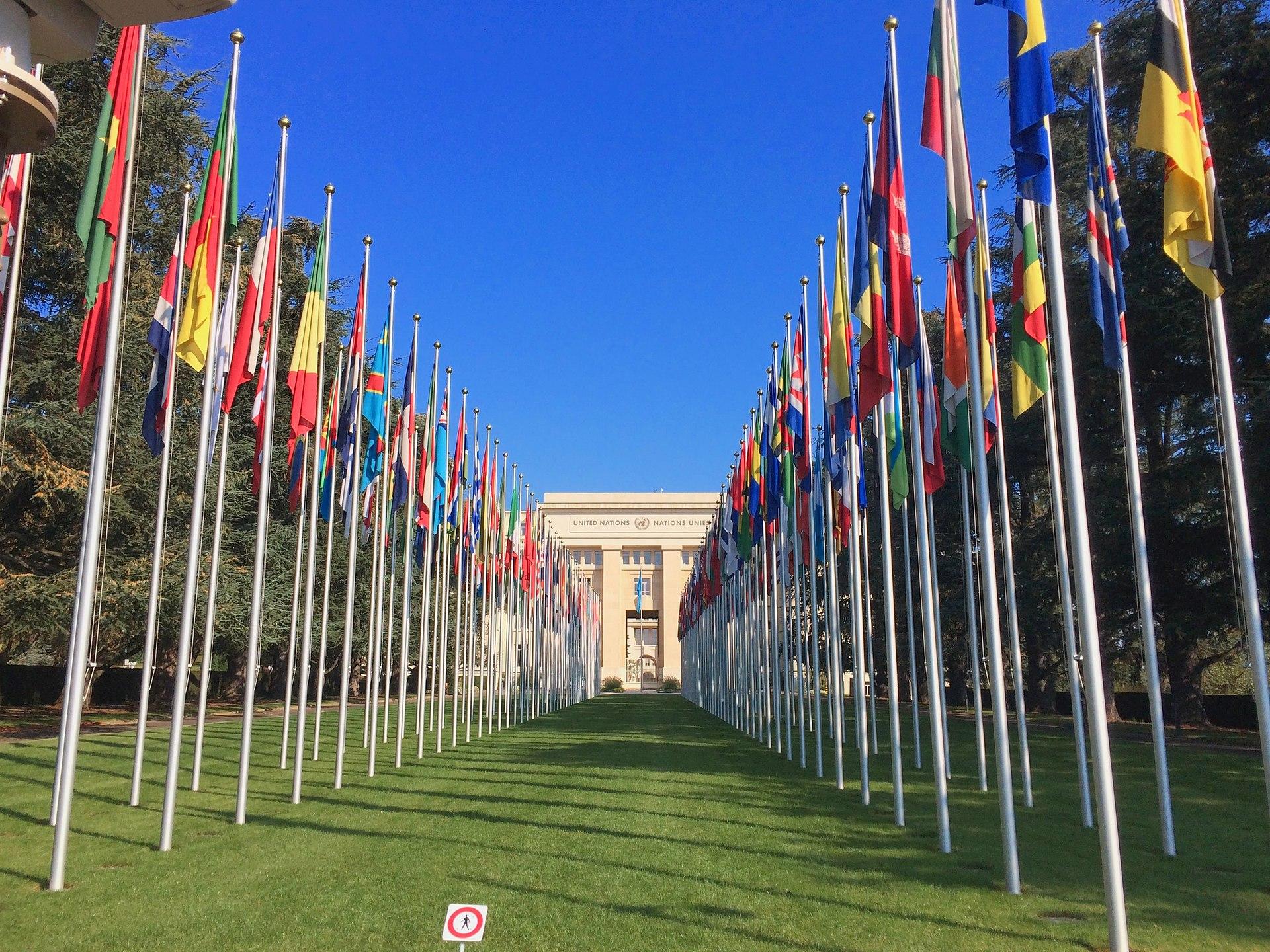 Das UNO-Gebäude in Genf.