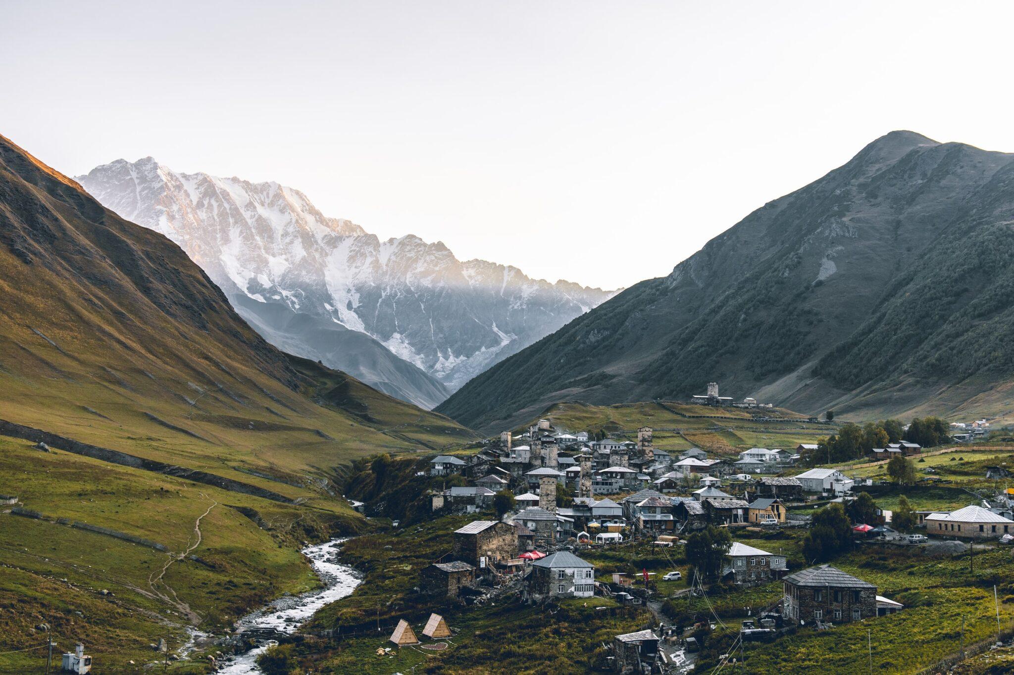 Bergdorf Uschguli in Georgien