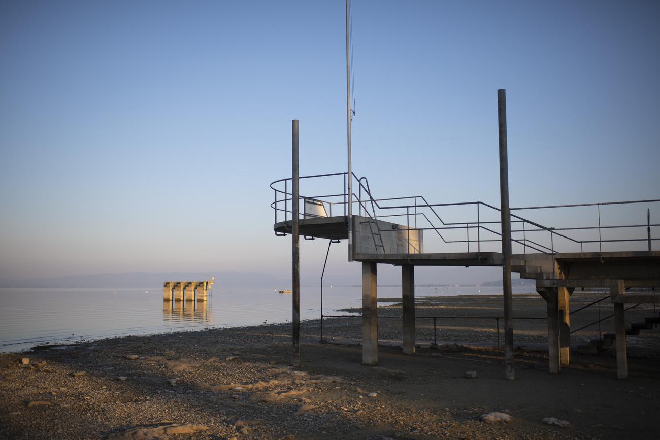 Tiefer Pegelstand am Bodensee